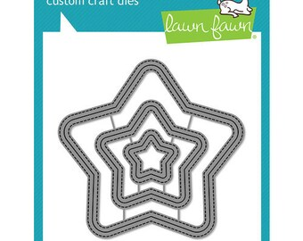 Lawn Fawn - Lawn Cuts - Dies - Outside In Stitched Star Stackables