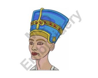Queen - Machine Embroidery Design, Queen Of Egypt, Neferiti