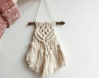 M I N I MACRAME Wall Hanging | E L S KA | Boho Scandi Chic Home Aztec Tapestry mini small