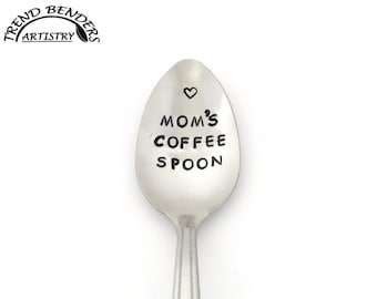 Mothers Day Gift, Mom Gift, Personalized Gift For Mom From  Son, From Daughter, Mom's Coffee Spoon Hand Stamped Spoon Birthday Gifts For Mom