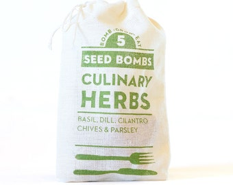 Culinary Herb Seed Bombs - Indoor or Outdoor Gardening