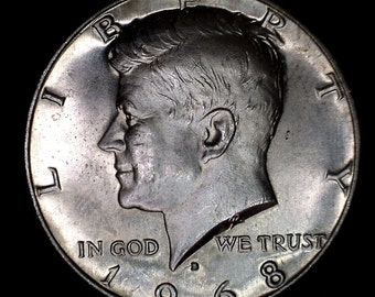 1968 Kennedy Half Circulated 40% Silver