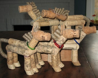Whimsical Cork Horses with your favorite color collar