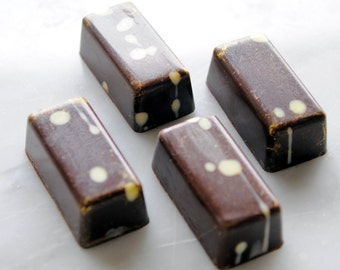 Coconut Chocolates in a gift box, artisan handmade chocolate, gourmet candy, gluten free, 10 pieces