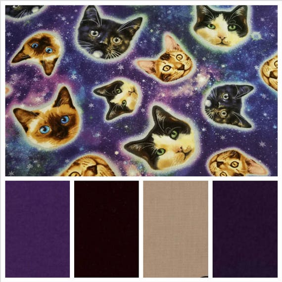 Space Cats Weighted Blanket, Cotton, Up to Twin Size, 3 to 20 Pounds, 3 to 20 lb, Adult Weighted Blanket, SPD, Autism, Calming Blanket