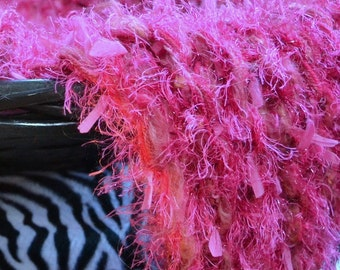 SALE Mini BLaNKET Hot Pink NeWBoRN Baby Girl Knit Wrap RTS BaBY PHoTo PRoP Furry Chunky RUG Thick Texture FuZZY Layer Blanket BaSKeT STuFFeR
