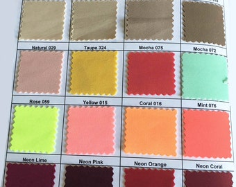 "Scuba Neoprene Fabric 4 ways stretch,  1 yard choice of color from chart  58""  Western Wear, suits, pants, jackets, dresses"