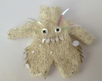 PDF knitting pattern - Middie Blythe or Lati yellow monster romper suit