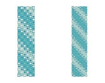 2 Loom or 3 Peyote Bead Patterns - Oceans Squared Cuff Bracelets, 2 or 3 Variations For The Price Of 1