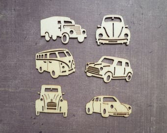 12 Deco wood embellishment car truck vehicle