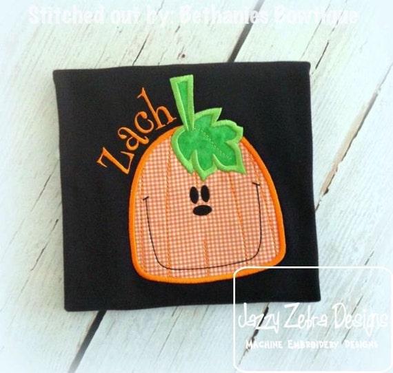 Jack-o-lantern 85 Applique embroidery Design - Pumpkin Applique Design - Fall Applique Design - halloween Applique Design