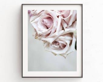 Wall Art Prints, Wall Decor, Art Print, Bedroom Decor, Large Wall Art, Digital Prints, Gift For Women, Instant Downloads, Floral Print, Rose