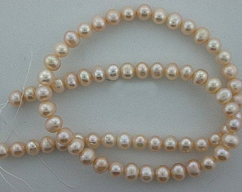 """16"""" Strand 6mm - 7mm Rich Creme Freshwater Pearls Natural"""