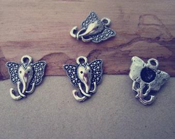 30pcs AntiqueSilver elephant Pendant charm 15mmx16mm