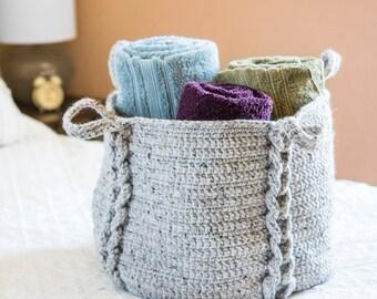 Crochet Pattern ~ Entwined XL Basket ~ Crochet Pattern