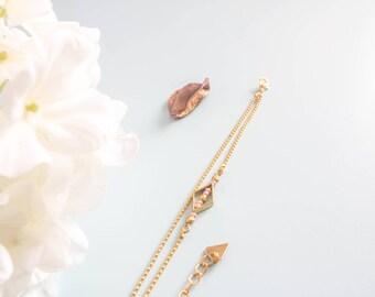 "Bracelet - ""Tharsil"" - geometric, elegant & simple"