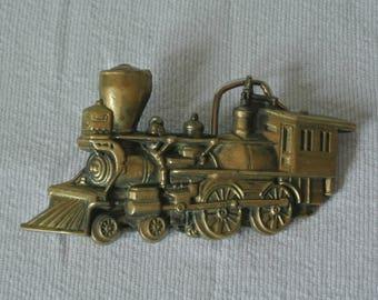 1978 Solid Brass Locomotive Baron Buckle
