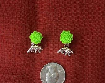 Walking bear earrings!