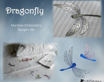 Dragonfly Set -  Machine Embroidery Wings  Designs Set