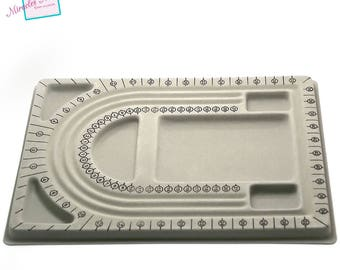 1 plate for creating jewelry, grey, 24 x 32.5 x 1.5 cm