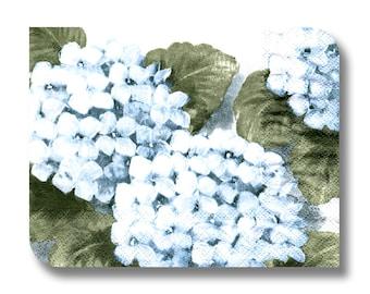 Flower paper napkin for decoupage x 1 Hydrangea Blue. No 1283