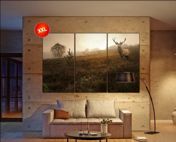 red deer  canvas wall art red deer wall decoration red deer canvas wall art art red deer large canvas wall art  wall decor