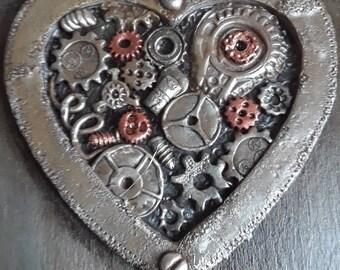 steampunk heart box,gear heart box