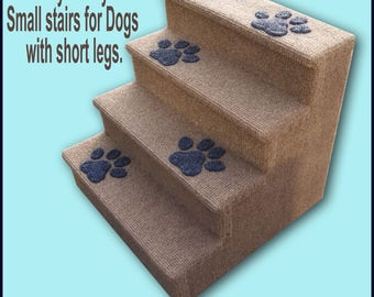 """Dog Steps, Cat stairs, Small to Medium Dogs. Four steps, Dogs with short legs. 14 1/2 High"""" x 15  Wide"""" x 15 Deep"""""""