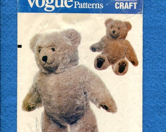 1980s Vogue 8658 Teddy Bear 23 Inches Tall