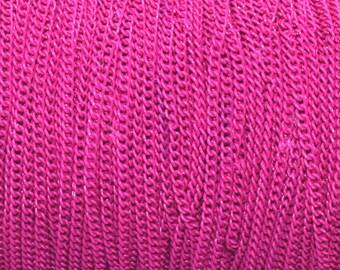 Chain necklace fuchsia color 3x2mm