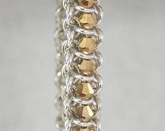 Aurum Spine of the Centipede Chainmaille Bracelet