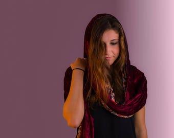 Unique Reversible Handmade Hooded Scarves