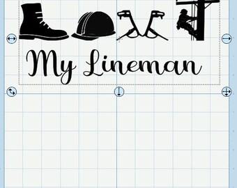 Love my lineman SVG