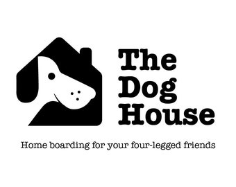 Dog Logo, Dog Sitting Logo, Vet Logo, Boarding Kennel Logo, Pet Logo, Animal Logo, Small Business Logo, Dog Walker Logo, Dog Boarding Logo