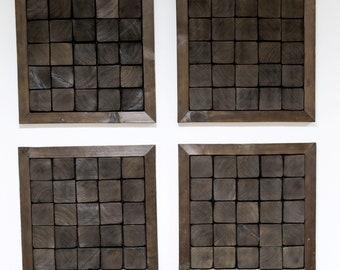 Wood wall art, Wood mosaic, Reclaimed Wood Art, Wood sculpture, Burned wood, Shou-Sugi Ban, Abstract painting, Modern wood Art Wall hanging