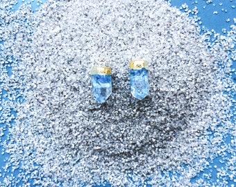 Gold Dipped Aqua Quartz Points