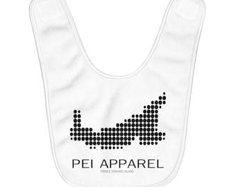PEI Pixel - Fleece Baby Bib - Can Customize Color - Prince Edward Island