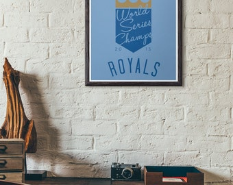 Kansas City Royals World Series Champs 2015 Poster