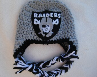 Crocheted Raiders  Inspired Team Colors or (Choose your team)  Football Helmet Baby Beanie/hat - Made to Order - Handmade by Me