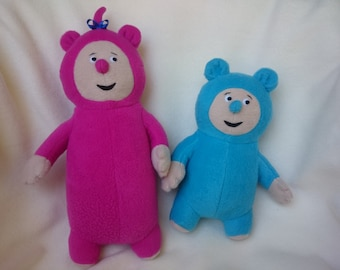 Plush toys just like Billy and Bam Bam from BabyTV (PAIR)