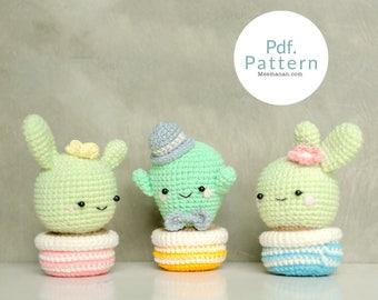 PDF. PATTERN - Cute Cactus Lover, Amigurumi pincushion, Crochet pattern, Amigurumi patterns.