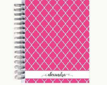 Bullet Journal – Personalized | Spiral | Dot Grid | Notebook | Quatrefoil