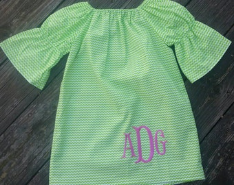 Girls Peasant dress / Monogrammed dress / Girls Peasant dress / boutique dress / girls clothing / boutique clothing
