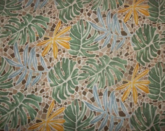Palm Leaves 100% cotton Fabric #171