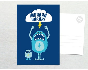 Postcard · Muhahaharrr! Monster · DIN A6