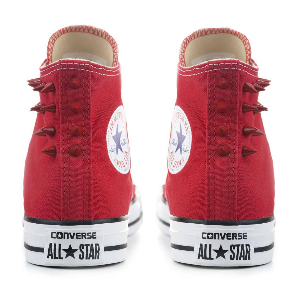 Haut haut haut Haut Converse rouge avec pointes rouges b029d3