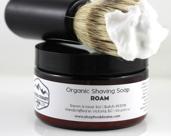 Organic Shaving Soap - Shaving Cream - Italian style shaving Soap, Traditional wet shaving Soap, Vegan Soap Victoria BC Canada