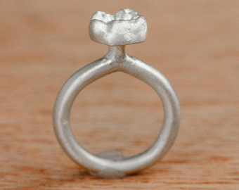 Baby Tooth Ring Molar Sterling Silver Baby Teeth Jewelry Personalized
