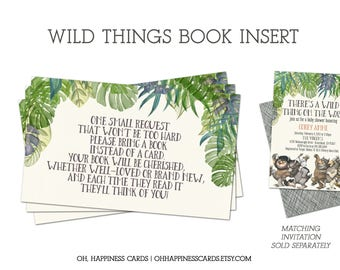 INSTANT DOWNLOAD: Where the Wild Things Are Bring a Book Insert- Wild Rumpus, Max