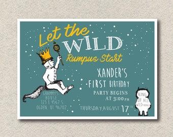 Wild Things Birthday Invitation